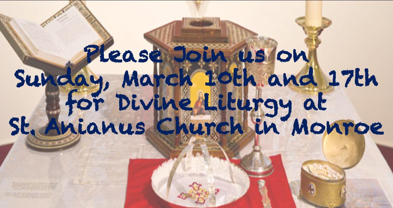 Liturgy in Monroe